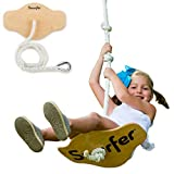 Swurfer Swift - Maple Wood Disc Swing for Kids Ages 4 and Up, Holds up to 150 Pounds - Includes 18