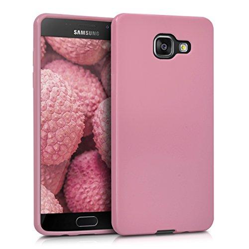 kwmobile Carcasa Compatible con Samsung Galaxy A5 (2016) - Funda móvil de Silicona - Protector de TPU en Rosa Palo