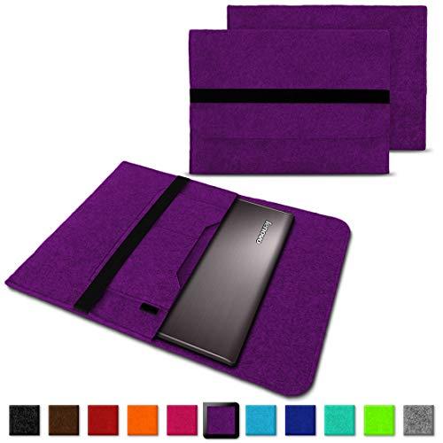 NAUC Notebook Tasche Hülle für Lenovo Yoga C930 900 900 S 910 510 520 530 710 720 730 13,3-14 Zoll Filz Sleeve Schutzhülle aus Filz mit Innentaschen, Farben:Lila