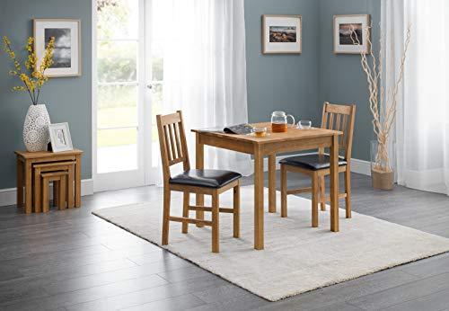 Julian Bowen Coxmoor - Tavolo da pranzo quadrato, in legno di quercia, natur, quadrata