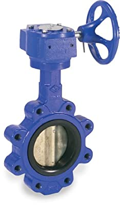 """Sharpe Valves 17 Series Ductile Iron Butterfly Valve, Lug Style, Stainless Steel 316 Disc, Buna-N Seat, Gear Operator, 3"""" from Smith-Cooper International"""