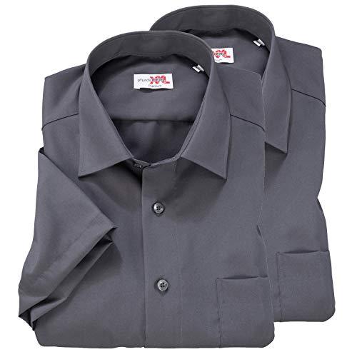 Pfundskerl Herren TOPPREIS: Doppelpack Hemden Kurzarm grau_750 XXL