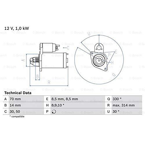 Preisvergleich Produktbild Bosch 986018570 Anlasser