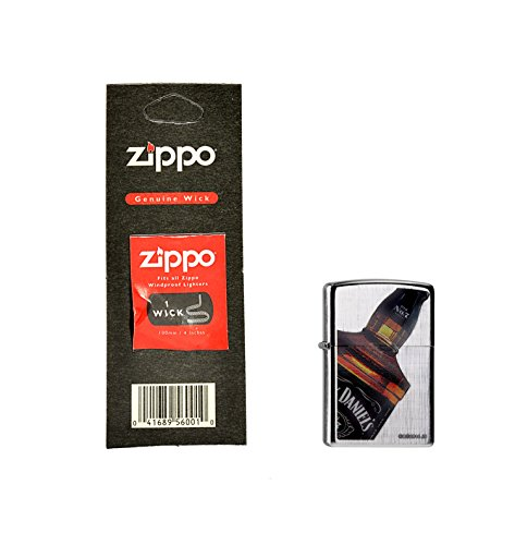 Zippo 60.000.096.1 Mechero de Jack Daniel\'s plus de repuesto de-la mecha, Zippo Collection 2015, Linen weave