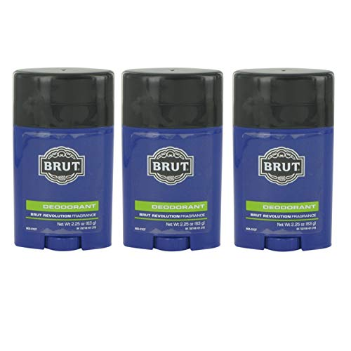 Brut Deodorant, Brut Revolution Scent, 2.25 Oz (Pack of 3)