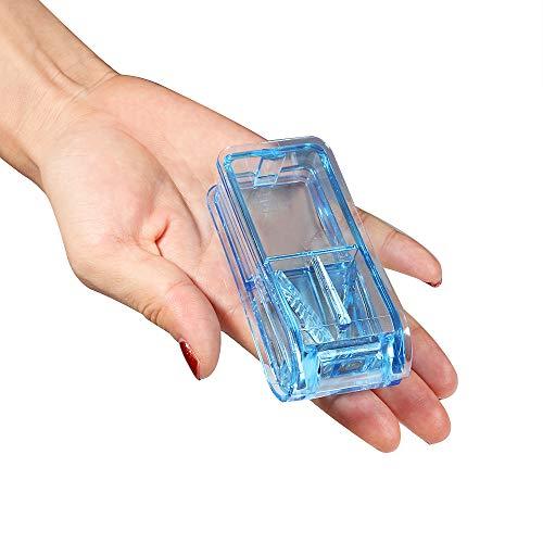 Opret薬カッターピルカッター錠剤カッター半割切りやすい携帯用薬カッターブルー