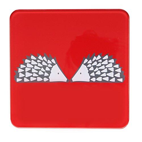 Scion Living - Dessous de plat - Motif : hérisson - Rouge
