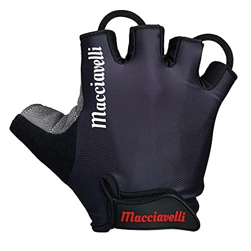 MACCIAVELLI Fahrradhandschuhe für Männer - MTB Handschuhe als Halbfinger Variante – Radsporthandschuhe für Rennrad und Mountainbike – Fahrrad Handschuhe für Männer und Frauen (S)