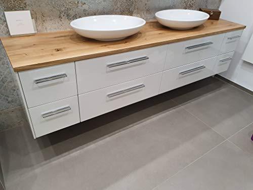 Schulten Holztechnik GmbH & Co.KG Waschtisch Eiche massiv, Eiche Altholz Nr. 25, jedoch ohne Unterschrank