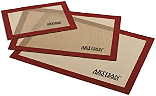 Artisan Silicone Baking Set with Mat Liners for Quarter, Half, and 2/3 Sized Cookie Sheets