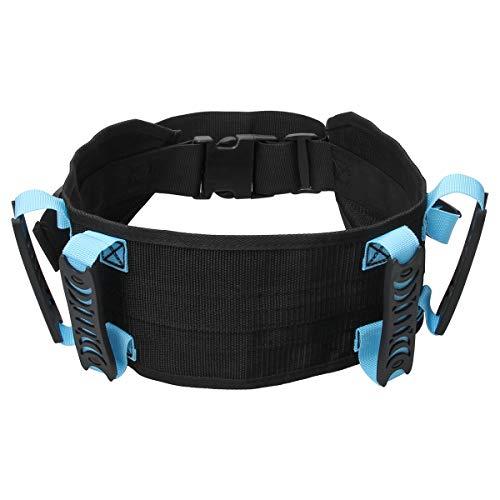Ahier Gait Belt, Gait Belts Transfer Belts, Gait Belt with Handles, 6 Pcs Handles Transfer Belt, Plastic Release Buckle Adjustable Strap