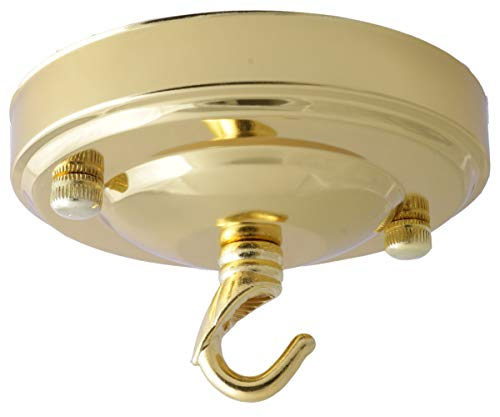 Vintage periodo completo in stile lampadario da soffitto in metallo con catena gancio (completamente a terra) Art déco Polished Brass