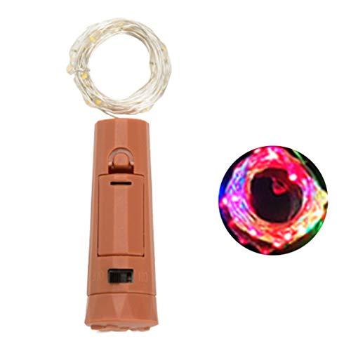 FXCO 5 Stück / Karton Kreative Lippenstift Kork Weinflasche LED Lampe Batteriebetriebene Mini...