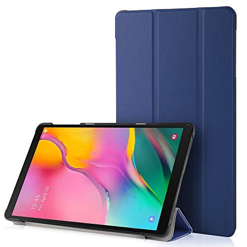 Hianjoo Funda Compatible con Samsung Galaxy Tab A 10.1 2019, Slim Smart Protectora Folio Tablet Cover de Cuero con Función de Soporte, Carcasa Compatible con Samsung Tab A T510/T515, Azul