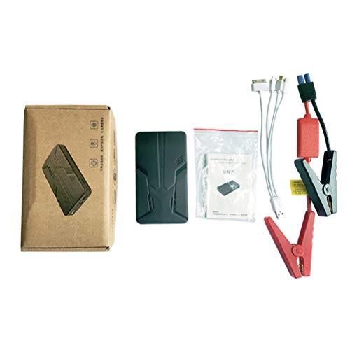 Wakauto Autobatterie Starthilfe Tragbare 12V Auto Batterie Booster Power Pack für Fahrzeug LKW SUV (Schwarz 30000Mah)