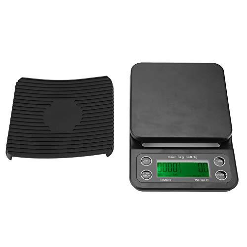 TOPINCN Elektronische keukenweegschaal, lichte, draagbare multifunctioneel HD-LCD-display, zwart en groen, achtergrondverlichting weegschaal huishouden (zonder batterij)
