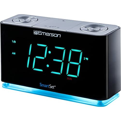 Emerson SmartSet Alarm Clock Radio with...