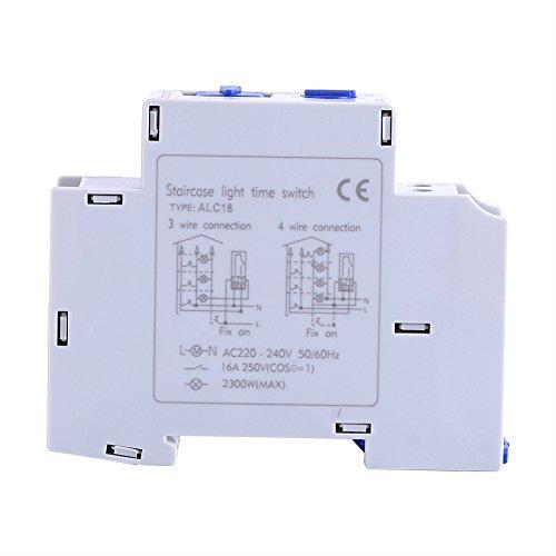 Zunate Interruptor del Contador de Tiempo, Temporizador de Corredor de Interruptor de Tiempo de relé electrónico de Escalera de electrodomésticos de CA 220-240V