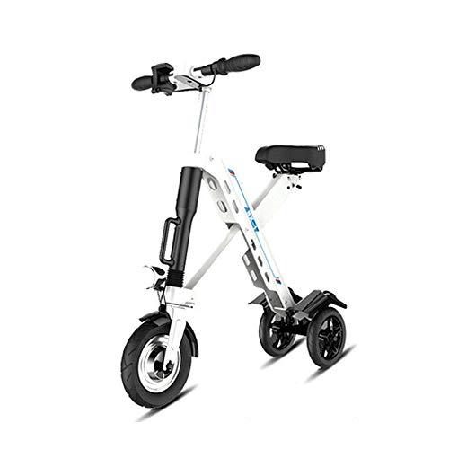 FUJGYLGL Portátil Mini Scooter eléctrico, con Asiento Plegable 25 kilometros Top Speed / H36v10.4a batería 350w Motor for la congestión del tráfico y Actividades (Color : Black)