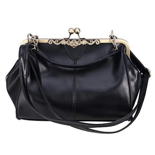 TENDYCOCO umhängetasche kiss lock umhängetasche pu leder handtasche verschluss für frauen