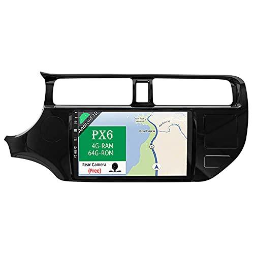 JOYX PX6 Android 10 Autoradio Compatibile KIA K3 Rio (2011-2017) - [4G+64G] - Telecamera Gratuiti - 9 Pollici - 2 DIN - Supporto HDMI 4K-Video AHD-Camera DAB 4G WLAN Bluetooth4.0 Carplay Android Auto