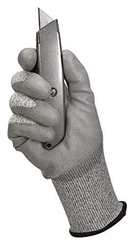 Kimberly Clark 13823 Jackson Safety G60 Schnittfeste Handschuhe Level 3, Handspezifisch, Grau (12-er pack)
