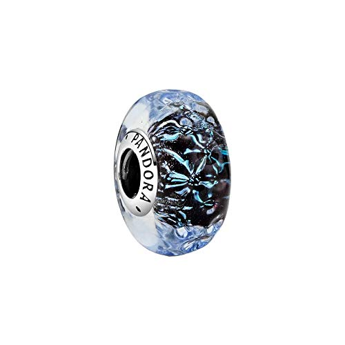 Colgante de cristal de Murano azul oscuro