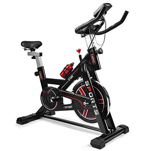 Heimtrainer fahrrad, Fitnessgeräte für zuhause, Heimtrainer mit Digitaler Monitor mit verstellbarem Sitz und Widerstand, Pulsmessung, für Zuhause Cardio-Workout - Fahrradtrainer 150 kg Belastbar