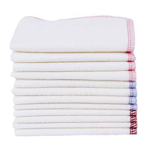 ImseVimse 12 Stk. Reinigungstücher/Waschlappen Wipes Lavender 22,5x22,5 cm 100% kba Baumwolle washable wipes