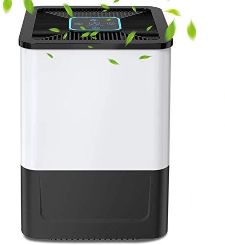 Nobebird Purificador de Aire para Hogar con Filtro HEPA y Carbón Activado, 5 Capas de Filtración, Temporizador, 7 Colores Luz Nocturna, Air Purifier para Elimina Polvo, Polen, Humo