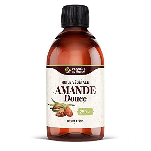 Huile végétale d'Amande Douce - 250 ml - Cosmos Natural - Pressée à froid - Cheveux, peau, visage