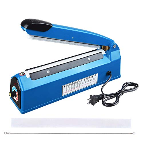 Yescom 8' 200mm Impulse Manual Hand Sealer Heat Sealing Machine Poly Tubing Plastic Bag