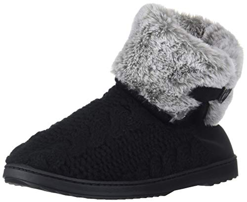 Dearfoams Women's Cable Knit Boot Slipper