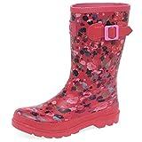 Tom joule Girls Welly, Botas de Agua para Niñas, Rosa (Deep Pink Inka Ditsy Dpinkdt), 32 EU (13 UK)