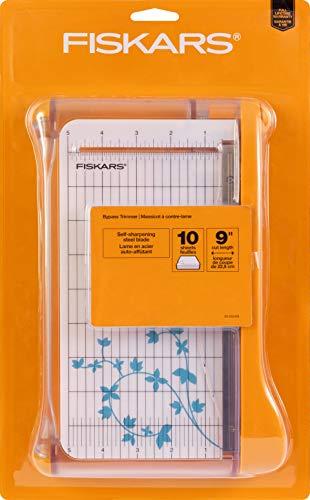 Fiskars 9 Inch Bypass Paper Trimmer (199130-1001),White