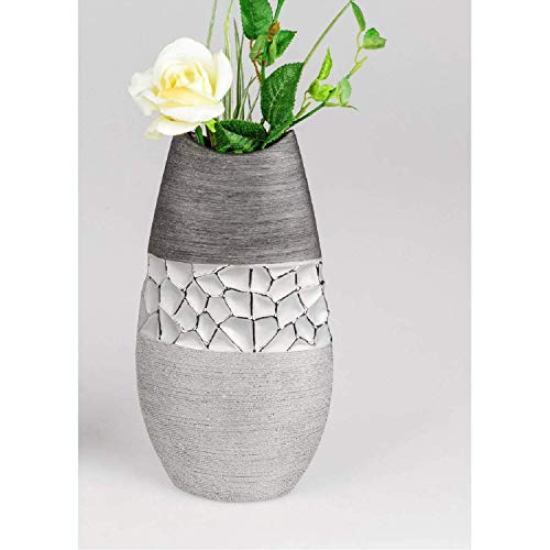 Formano Vase Silber-grau 28 cm 739827 edel