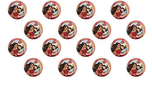 3041, 2 paquetes de 8 platos de cartón 23cm ELENA OF AVALOR DISNEY; ideal para fiestas y cumpleaños