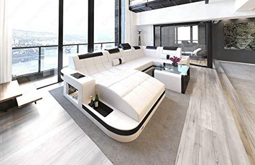 Sofa Wohnlandschaft Wave in U Form mit relaxe Ottomane