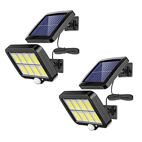 大将 Luces solares con sensor de movimiento para exteriores, impermeables, con 3 modos para jardín, patio, terraza, piscina, 2 unidades