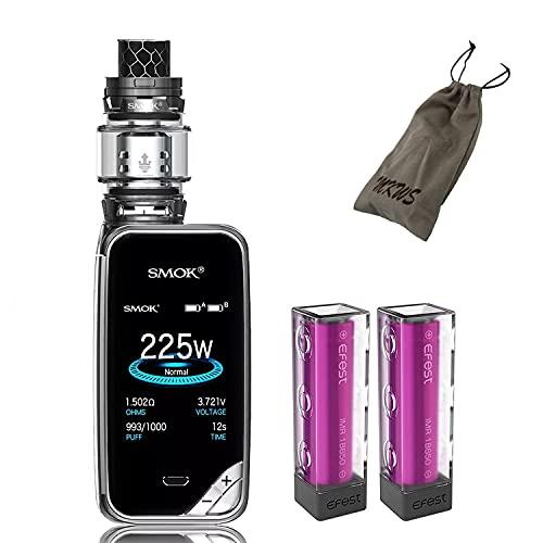 Elektronische Zigarette, Authentic Smok 225W X Priv Kit,Vapes Starter Kit mit 8ml Tank TFV12 Prince Kerne, Efest Batterien und Colorfulscreen,Ohne Nikotin, Ohne Flüssigkeit (Gun Metal)