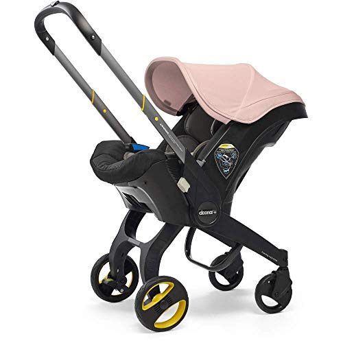 Doona Car Seat and Pram, Blush Pink, Revolutionary 0+ Car Seat that Folds Between Car Seat & Pram in Seconds, ISOFIX Base Available. Car Seat H60cm x W44cm, Pram H99cm x 82cm. Perfect for Travelling