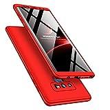Adamarkeer Coque Galaxy Note 9 Case 360 Protection PC 3 en 1 Full Cover Housse Integrale Bumper Etui Case Accessoires Ultra Fin Et Discret pour Samsung Galaxy Note 9 (Rouge)