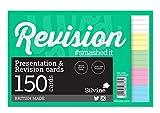 Silvine Luxpad - Tarjetas de revisión y presentación, tamaño A6, Blanco, 150 Tarjetas por Bloc (15,2 x 10,1 cm)