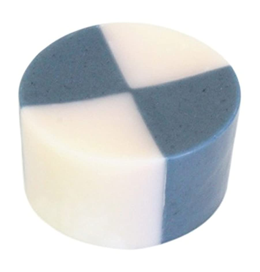 花輪作ります昼間藍色工房 藍染め石けん「いちまつ」(60g)