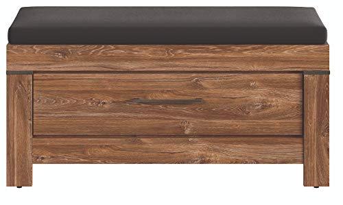 BOARDD - Zapatero para pasillo, zapatero con cojín acolchado y cajón, 101 x 50 x 40 cm