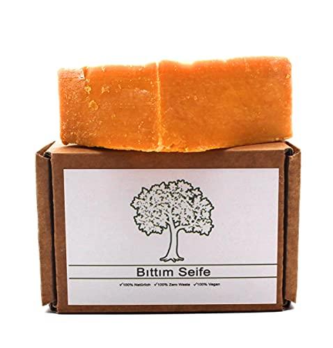 Bittimseife ca. 140g, belebende Haarseife, Naturkosmetik, Vegan, Keine Chemikalien, Traditionell, Terpentin-Pistazie empfohlen bei Haarausfall
