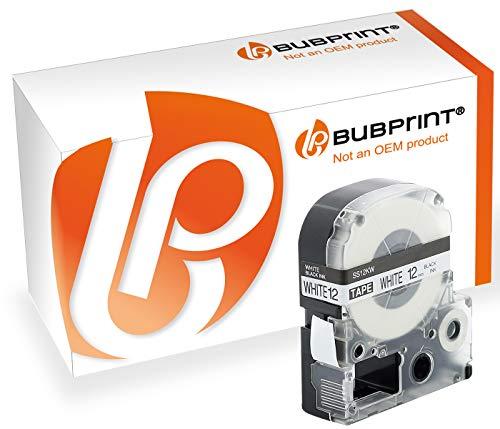 Bubprint Schriftband kompatibel für Epson LC-4WBW9 SC12KW für LabelWorks LW-1000P LW-300 LW-400 LW-600P LW-700 LW-900P LW-K400 LW-Z700FK Schwarz/Weiß