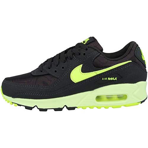 Nike Wmns Air Max 90, Scarpe da Corsa Donna, Dk Smoke Grey/Volt-Barely Volt, 45 EU