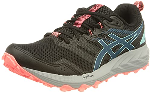 Asics Gel-Sonoma 6, Zapatillas para Carreras de montaña Mujer, Black/Deep Sea Teal, 39 EU