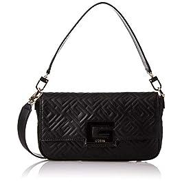 Guess Borsa tracolla Brightside shoulder bag ecopelle trapuntata nero B21GU27